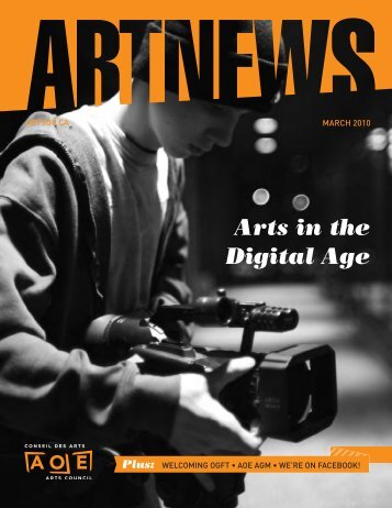 download the march 2010 issue (pdf) - Arts Ottawa East / Arts ...