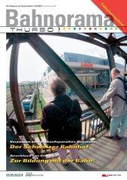 Der Schweizer Bahnhof Zur Bildung mit der Bahn - Thurbo