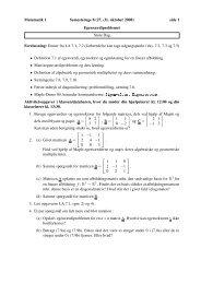 Matematik 1 Semesteruge 8 (27. -31. oktober 2008) side 1 ...