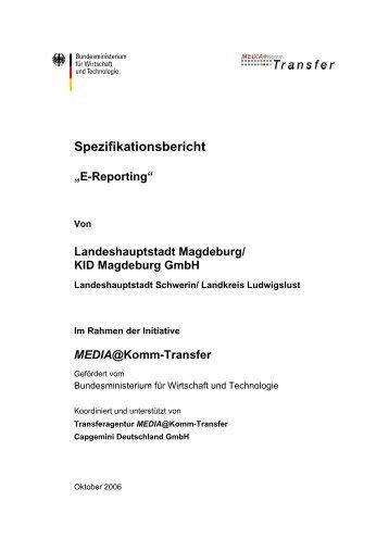 Spezifikationsbericht E-Reporting