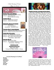 Sixth Sunday of Easter May 13, 2012 - St. Francis de Sales Parish