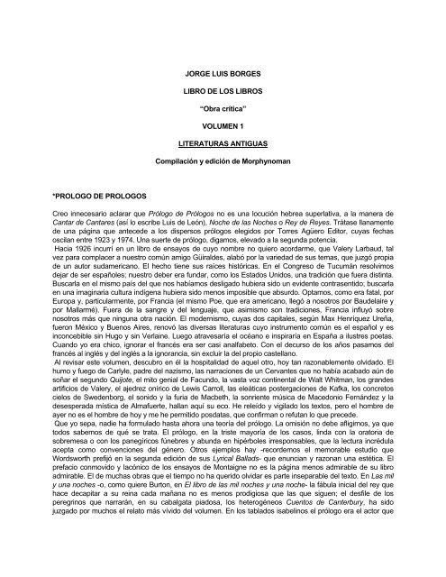 Textos Line Jorge Borges Luis On dBeCoQxWr