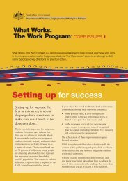 Core Issues 1: Setting Up For Success - What Works