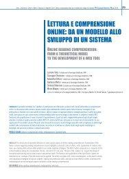 lettura e comprensione online - TD Tecnologie Didattiche - Cnr
