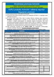 Regulamin promocji - Action S.A.