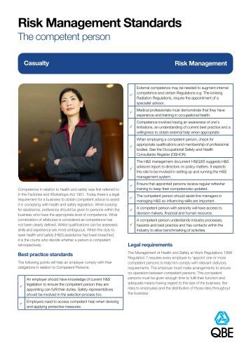 The Competent Person - QBE