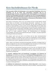 Kein Stacheldrahtzaun für Pferde - Schweizer Tierschutz STS