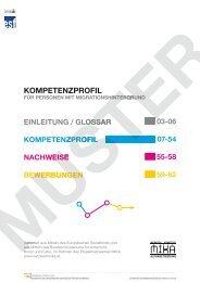 Kompetenzprofil für Personen mit ... - Netzwerk MIKA