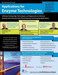 Applications for Enzyme Technologies
