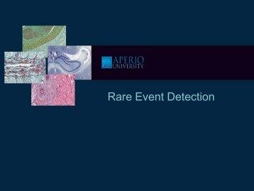 Rare Event Detection - School of Medical Sciences