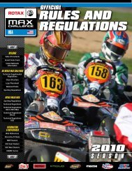 RULES AND REGULATIONS - Red Line Oil Karting Championships
