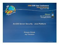 ArcGIS Server Security - Java Platform