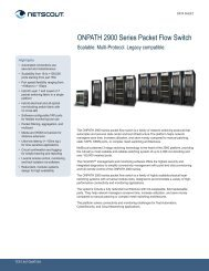 ONPATH 2900 Series Packet Flow Switch - NetScout