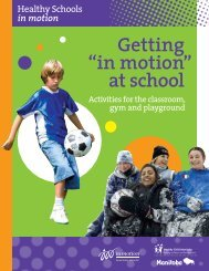 """Getting """"in motion at school """" - Manitoba in motion"""