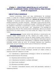 ETAPA 2 - CERCETARE INDUSTRIALA SI ACTIVITATI ... - IMT