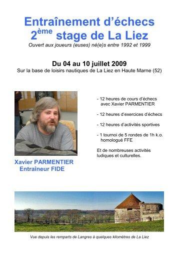 Infos complètes et bulletin à télécharger - Fédération Française des ...