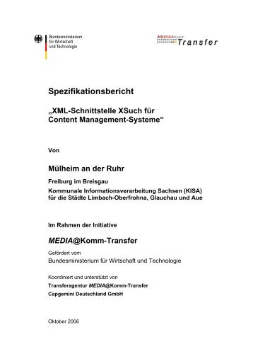 XML-Schnittstelle für Content Management-Systeme