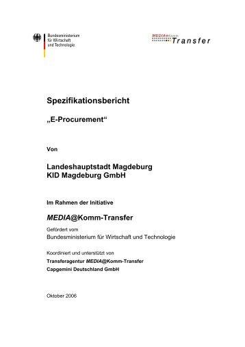 Spezifikationsbericht E-Procurement