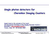 Single photon detectors for Cherenkov Imaging counters - Trends in ...