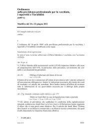Ordinanza sulla previdenza professionale per la ... - admin.ch