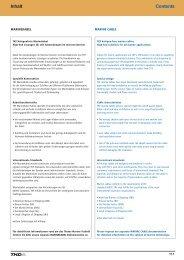 Contents Inhalt - TKD KABEL GmbH