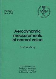 Holmberg - Aerodynamic measurements of normal voice