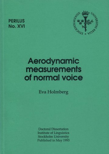Holmberg - Aerodynamic measurements of normal voice