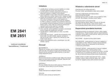 EM 2841 EM 2851 - OMS Product Database
