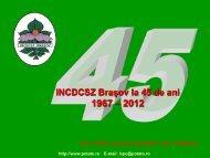 Prezentare INCDCSZ - Institutul National de Cercetare Dezvoltare ...