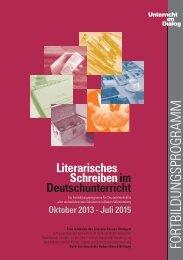 Literarisches Schreiben im Deutschunterricht - Literaturhaus Stuttgart