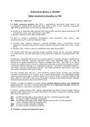 Státní závěrečné zkoušky na FAV - do 31.8.2012 - Fakulta ...