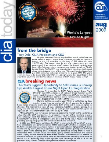 from the bridge breaking news - Cruise Lines International Association