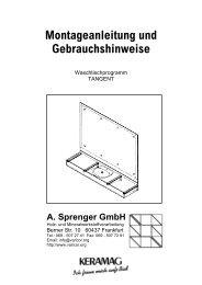 Montageanleitung Waschtischmodell TANGENT - Varicor
