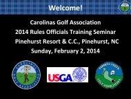 CGA Senior Rules Official Program - Carolinas Golf Association