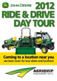 Coming to a location near you - Agriquip Machinery Co