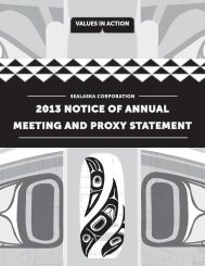 2013 NOTICE OF ANNUAL MEETING AND PROXY ... - Sealaska