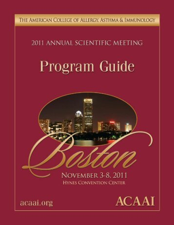 Program Guide 2011 - American College of Allergy, Asthma and ...