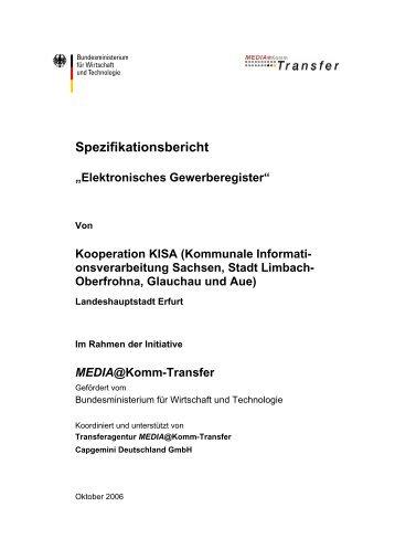 Spezifikationsbericht Elektronisches Gewerberegister