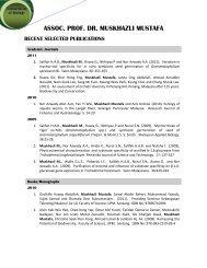 assoc. prof. dr. muskhazli mustafa recent selected publications - UPM