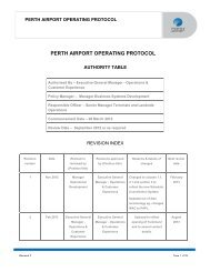 Perth Airport Operating Protocol - Final 26 March 2013