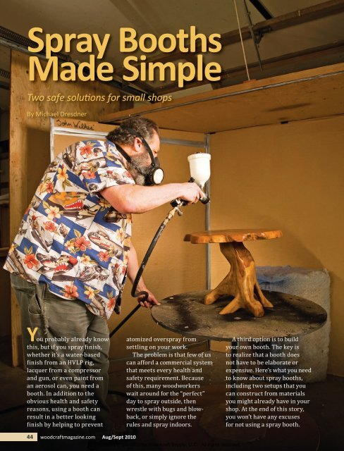 Spraying Made Simple - Woodcraft Magazine