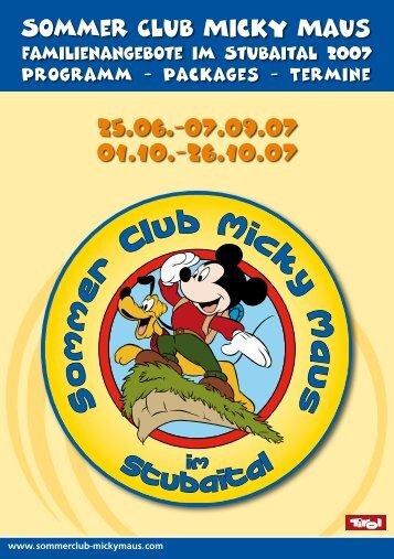 Sommer Club Micky Maus - Tirol