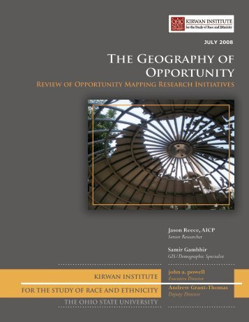 The Geography of Opportunity - Kirwan Institute for the Study of ...