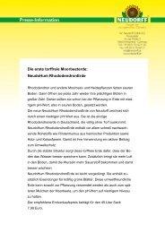 Für einen guten Start: NeudoHum PflanzErde - Neudorff