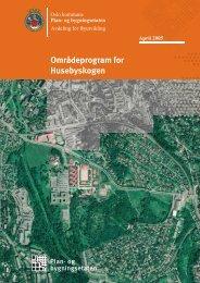 Områdeprogram for Husebyskogen - Plan