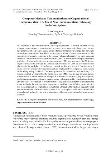 Computer-Mediated Communication and Organisational ...