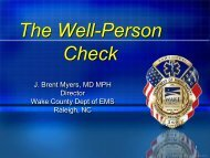 Advanced Paramedic Well-Person Checks in Wake County