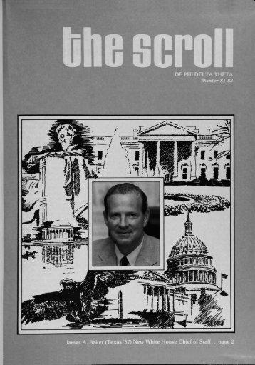 1981–82 Volume 105 No 1–5 - Phi Delta Theta Scroll Archive