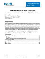 Power Management for Server Virtualization - Eaton Corporation