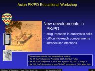 new approaches in PK-PD - Cellular and Molecular Pharmacology